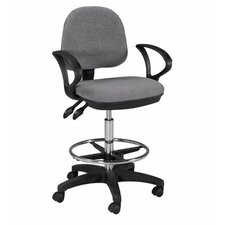 Height Adjustable Drafting Seating with Footring