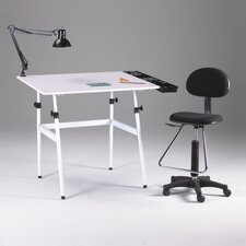 Berkeley 4 Piece Melamine Drafting Table Set with Chair