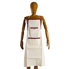 Jullian of Paris Brand Canvas Painters Apron in Unbleached Natural