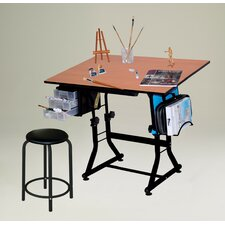 <strong>Martin Universal Design</strong> Ashley Melamine Drafting Table with Stool