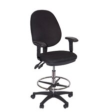 <strong>Martin Universal Design</strong> Grandeur Manager's High Back Mesh Draft Chair with Foot Ring