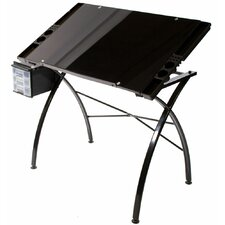 Design Line Tempered Glass Drawing Table
