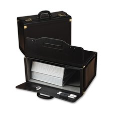 "Catalog Case,w/ 2 Brass Combo Lock, 20""x9""x14"", Black"