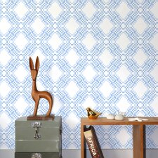 <strong>Aimee Wilder Designs</strong> Ikat Pixel Wallpaper Sample