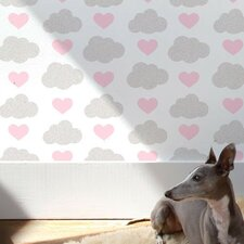 <strong>Aimee Wilder Designs</strong> Loveclouds Wallpaper Sample