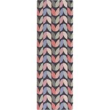 Native Slate Geometric Area Rug