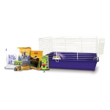 Home Sweet Home Guinea Pig Cage Starter Kit with Sunseed Food