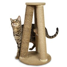Hyacinth and Jute Pyramid Scratch Post