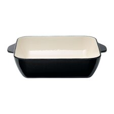 Cast Iron 26 cm Square Baking Oven Dish in Black