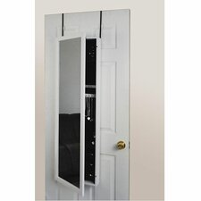 Mirror Jewelry Armoire-Over the Door in White
