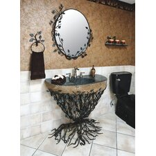 Aspen Forest Pedestal Bathroom Sink Set