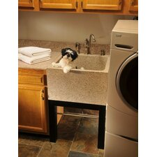 "Farm Charm 25"" x 24"" Deep Laundry Sink"