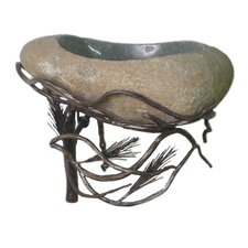 Organic Suites Wall Mount  Bathroom Sink with Boulder Basin