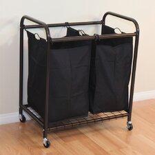 2-Bag Rolling Laundry Sorter