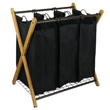 X-Frame Bamboo 3 Bag Laundry Sorter