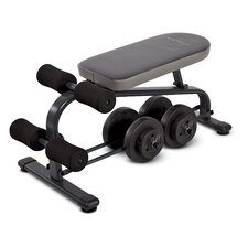 <strong>Marcy</strong> Crunch Board Adjustable Ab Bench with 40 lb Vinyl Dumbbell Set