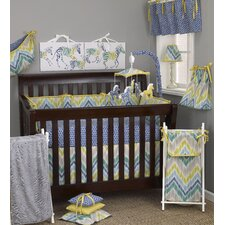 Zebra Romp 8 Piece Crib Bedding Set