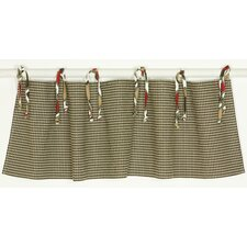 "Houndstooth Straight 55"" Curtain Valance"