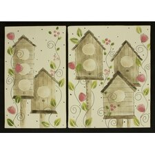<strong>Cotton Tale</strong> Raspberry Dot Wall Art with 2 Piece