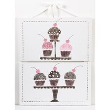 <strong>Cotton Tale</strong> Cupcake 2 Piece Wall Art