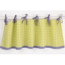Periwinkle Cotton Tab Top Tailored Curtain Valance