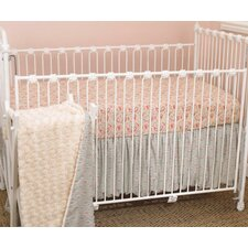 Tea Party 3 Piece Crib Bedding Set