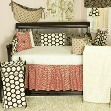 <strong>Cotton Tale</strong> Raspberry Dot 4 Piece Crib Bedding Set