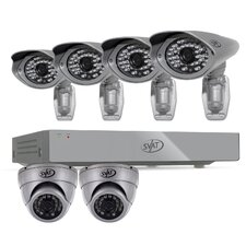PRO 8CH 1TB Smart Security DVR with 2 x 600TVL Dome Cameras, 4 x 600TVL Bullet Cameras
