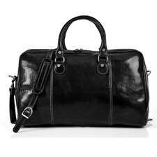 "Perugia 18.5"" Italian Leather Duffel"