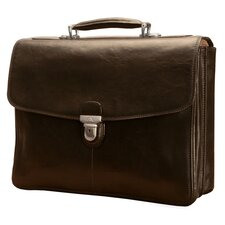 <strong>Tony Perotti</strong> Green Bella Russo Leather Laptop Briefcase