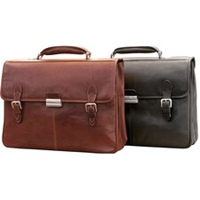 The Green Collection Classic European Double Compartment Briefcase