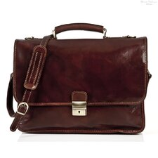 Torino Leather Laptop Briefcase