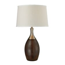 "16.5"" H Curved Table Lamp with Empire Shade"