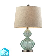 "HGTV Home 25"" H Glass and Metal Table Lamp"