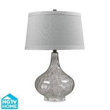 "HGTV Home 24"" H Glass and Acrylic Table Lamp"