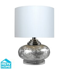 "HGTV Home 19.5"" H Table Lamp with Drum Shade"