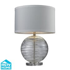 "HGTV Home 25"" H Glass and Acrylic Table Lamp"
