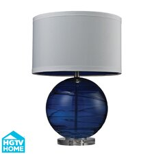 "HGTV Home 25"" H Table Lamp with Drum Shade"