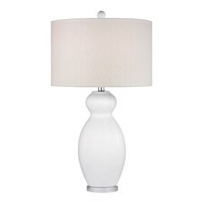 "Pear Gourd 28"" H Table Lamp with Drum Shade"