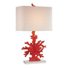 "Coral 28"" H Table Lamp with Rentangular Shade"