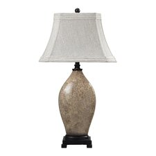"Distressed Floral 32.5"" H Table Lamp with Empire Shade"