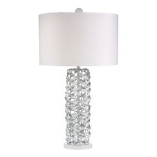 "Glam 28"" H Table Lamp with Drum Shade"
