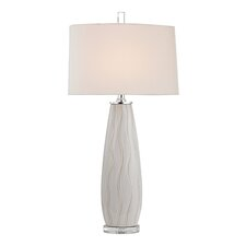 "34.75"" H  Ceramic, Crystal and MetalTable Lamp"