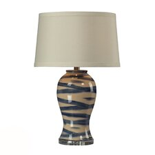 "HGTV Home Voyage 29"" H Ceramic and Crystal Table Lamp"