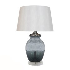 "HGTV Home Overexposed 21"" H Glass and Acrylic Table Lamp"