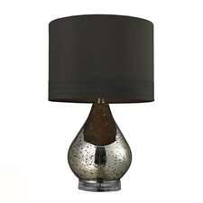 "HGTV Home 22.25"" H Table Lamp with Drum Shade"