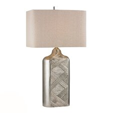 """HGTV Home 32"""" H Table Lamp with Square Shade"""