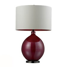 "HGTV Home 30"" H Glass and Steel Table Lamp"