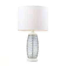 "HGTV Home 23"" H Poly, Metal and Glass Table Lamp"