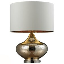 "HGTV Home 26"" H Glass and Steel Table Lamp"